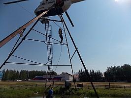 Площадка тренировки навыков по оказанию помощи терпящим бедствие на воде с применением авиации