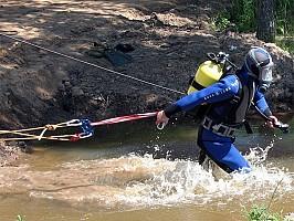 Водоем с пирсом для водолазных спусков и подводных работ
