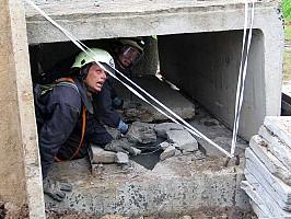 Площадка ликвидации ЧС в зоне разрушений строительных конструкций