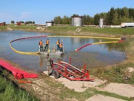 Площадка ликвидации экологических аварий на воде